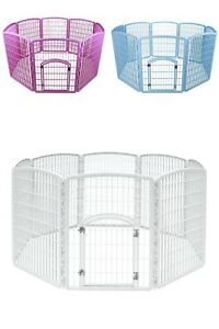 """NEW Puppy Dog Pet Play Pen Kennel Cage Gate Fence Plastic 63"""" x 63"""" x 34"""" SEALED"""