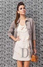 DENNY ROSE SPOLVERINO trench cappotto art.5935 colore NERO - TORTORA - GHIACCIO