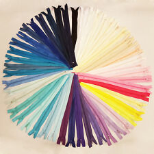 """No.3 NYLON CLOSED END  ZIPS * 4 5 6 7 8"""" 49 COLOURS* ZIPPER SEWING DRESSMAKING"""