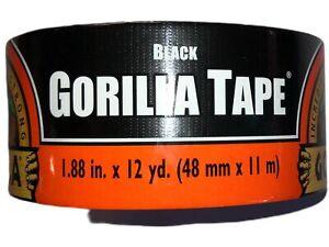 """Gorilla Tape 1.88"""" x 12 Yards in Black"""