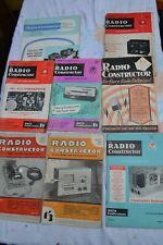 The Radio Constructor Magazines x 8  1950's/60's