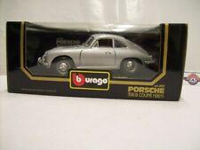 Porsche 356B Coupe, 1961, silver, Bburago (Made in Italy) 1:18, OVP
