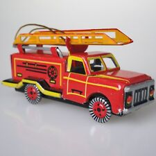 FIRE ENGINE TRUCK TIN TOY ORNAMENT CHRISTMAS TREE TIN ORNAMENT NEW