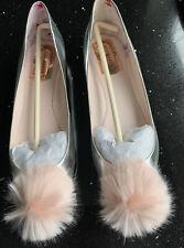Ted Baker - Women's Metallic Pom-Pom Flat Shoes - New - Boxed