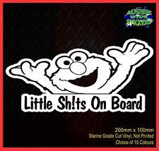 Elmo Little Sh!ts on Board waving hands funny baby on board Car Sticker 200mm