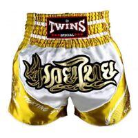 Twins Special Muay Thai Shorts Dragon - White/Gold TBS-DRAGON 4
