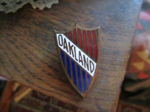 Original 1930' Vintage OAKLAND AUTOMOBILE, Enameled Radiator Badge,Buy Now/OFFER