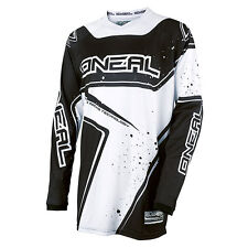ONEAL O'neal Element YOUTH motocross BMX jersey white/black LARGE 0029-104