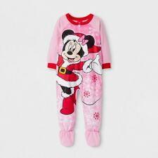 Disney BABY Girls 18 moths Fleece Minnie Mouse Blanket Sleeper Footie  Pajamas 5309c6379