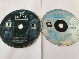 WWF Smackdown 1 & 2 Sony PlayStation 1 PS1 Games Disc Only FREE UK POSTAGE