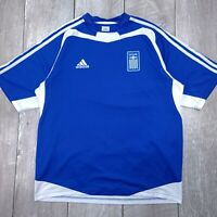 Adidas Greece Soccer Futball Home Jersey Mens Large 2003-2004 Short Sleeve T134