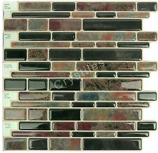 "Crystiles® Peel&Stick Self-Adhesive Tiles, Item# 91010882, 10""X10"", Set of 6"