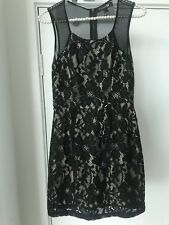 FOREVER 21 Black / Nude sheer back party cocktail Dress LBD - Sz Small S BNWT