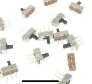 3 x Mini Slide Switch On-OFF Interrupt 3 Pin Micro Toggle PCB -UK -Free P&P