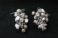 Fashion Punk Earrings Drop Dangle Rhinestone Cluster Prong Set