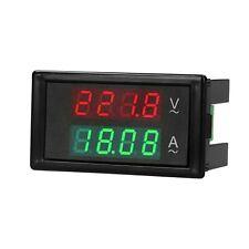 Ac 80-300V 100A Digital Voltmeter Ammeter Amperage Tester Gauge Green Red Led C0