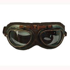 Vintage Goggle Brown : Scooter Bike Racing Motorcycle Helmet Accessories