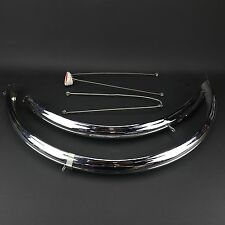 1960's Vintage English Philips Ranger Raleigh Chrome Fenders w/ Brackets