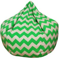 Green Chevron Bean Bag