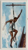 1956 Olympics High Jump Gold Medal Dumas USA  Vintage Trade Ad Card