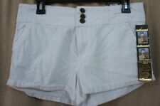 Doll House Juniors Casual Shorts Sz 5 White Solid 100% Cotton Short Shorts