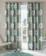 "Ready Made Curtains Issy Fully Lined Eyelets Aqua 46"" X 72"" 117cm X 183cm"