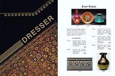 Christopher DRESSER Exhibition catalogue w PRICES Tiles Metalware Ceramics Glass