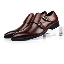 New Men's real leather Dress shoes Formal lace up brown size US 5.5~12