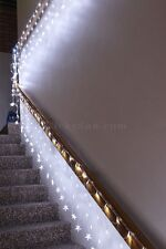 600 LED White Net Lights with Stars Waterfall Functions & Memory 20M