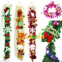 "33"" Shiny Christmas Tinsel with mini Star Ball Xmas Tree Decoration Garland Hot-"