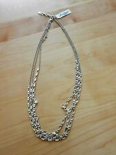 Lucky Brand Silvertone Match Back Chain Link Necklace MSRP $49