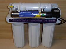 DEPURATORE ACQUA MICROFILTRAZIONE 5 STADI CON LAMPADA UV MODEL 500 E MF PLUS BIG