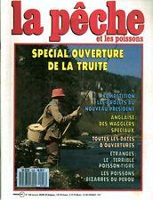 Revue  La pêche et les poissons No 526 Mars 89