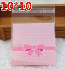 20 Piezas Adhesivo de embalaje cookies bolsas de plástico 10x10cm Fiesta Hornear Snack B010