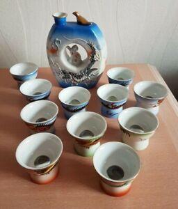 Service à Saké Siffleur Vintage + 11 verres