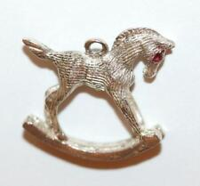 Charm With Gift Box 2.4g Rocking Horse Sterling Silver 925 Vintage