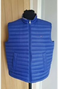 Men's TOMMY HILFIGER down filled gilet/body warmer, XXL, 2XL, blue, 100% genuine