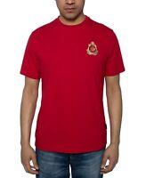 Sean John Mens T-Shirt Red Size Large L Embellish Crest Crewneck Graphic Tee 181