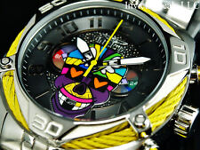 Invicta Mens 47mm BRITTO BOLT Chronograph Limited Edition Silver/Yellow SS Watch
