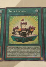 "/""FAKE/"" YUGIOH Toon Kingdom DRL2 1st Edition Secret Rare PROXY Card x3"