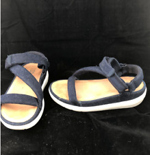 Orig $175 FitFlop Loosh Luxe Z-Strap Blue Denim Sandal US 6, 6 1/2, Eu 37