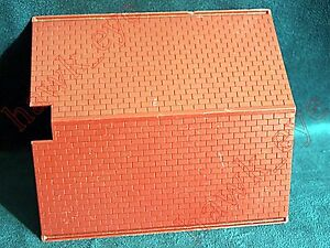 Plasticville Split Level House Red Roof O-S Scale