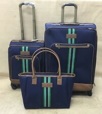 "TOMMY HILFIGER SANTA MONICA Set 16"" Tote & 20"" & 28"" Blue EXP SPINNER SUITCASEs"
