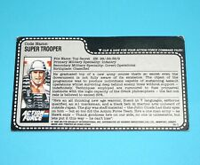 1988 GI JOE SUPER TROOPER v1 UNCUT FILE CARD FILECARD ACTION FORCE UK HASBRO