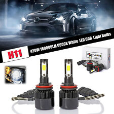 LED H11 420W 160000LM Fog Light Power Bright For 2011 2012 2013 Infiniti G37 @