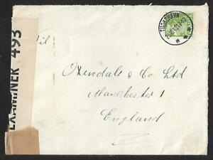 FAROE ISLANDS DENMARK TO UK CENSOR COVER 1940