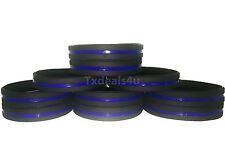 50 Thin Blue Line Silicone Wristband Police Bracelet Law Enforcement Support USA