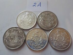 5    CANADIAN     SILVER      HALVES       MIXED 2 A