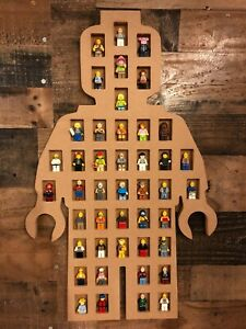Display Case for lego Minifigures  Wall Cabinet Shadow Box holds 44 figures