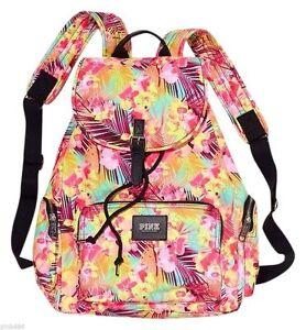 Victoria's Secret PINK Tropical Floral School Beach Backpack Bookbag - RARE!